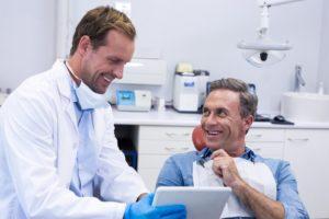 man at a dental checkup appointment in san antonio